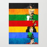 justice league Canvas Prints featuring A League of Justice by JordanJBDesigns