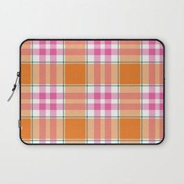 Orange Fuchsia Summer Plaid Laptop Sleeve