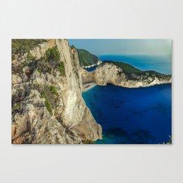 Navagio beach - Zakynthos - Greece Canvas Print