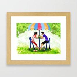 Summer Lovers Framed Art Print