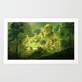 Remain of the ancient river Art Print