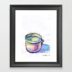 Pink Cup Framed Art Print