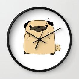 Pug Flipping Double Bird Wall Clock