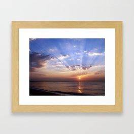 Badalona beach Framed Art Print