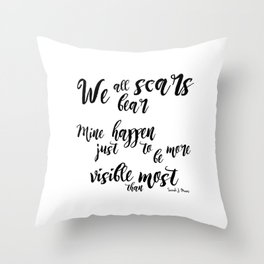 scars (throne of glass) Throw Pillow