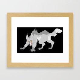 Drip and Drool - Werewolf  (Grey) Framed Art Print