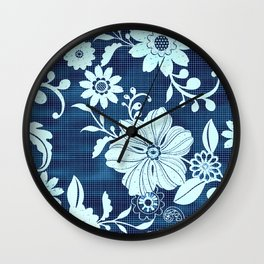 Flower time Wall Clock