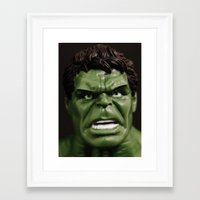 hulk Framed Art Prints featuring Hulk by Beastie Toyz