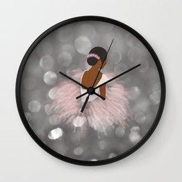 African American Ballerina Dancer Wall Clock