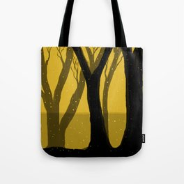 Magical Forest in Gold Tote Bag