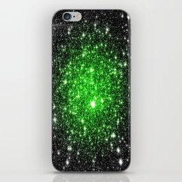 galAxy. Stars Lime Green iPhone Skin