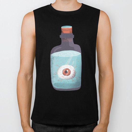 Eye in a bottle Biker Tank