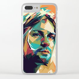 Kurt Pop Art Cobain Clear iPhone Case