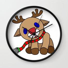 Tilted Reindeer Wall Clock