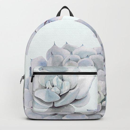 Blue Succulents Backpack