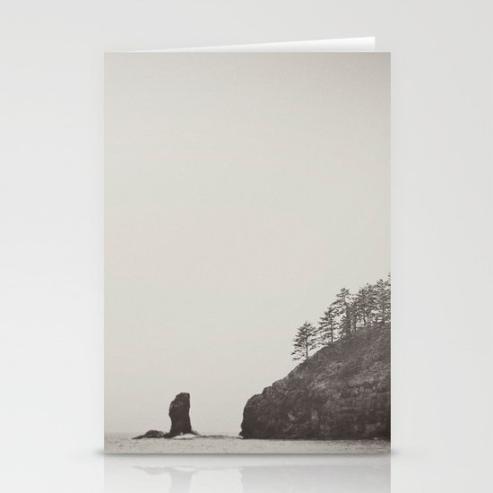 Beach Black and White Stationery Cards