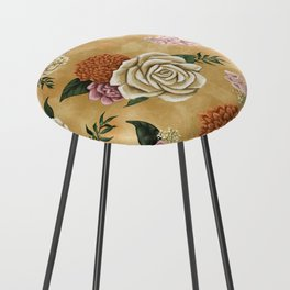 Gold luxury floral Counter Stool