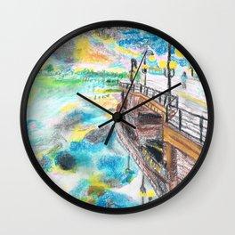 El cielo reflejado bajo un puente Wall Clock