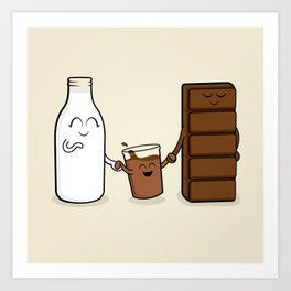Chocolate + Milk Art Print