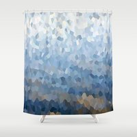 crystal Shower Curtains featuring Crystal by Fox Industries