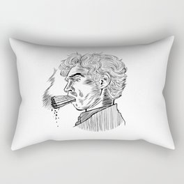 London Smoking Habit (Lineart) Rectangular Pillow