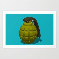 Hand Grenade Art Print
