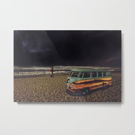 Night Summer Surf Metal Print