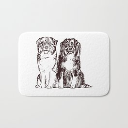 Australian Shepherd working dog for dog lovers Bath Mat