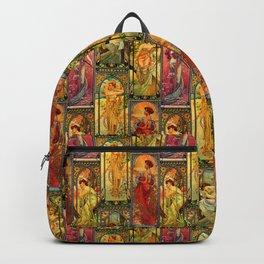 Victorian Art Nouveau Panels Backpack