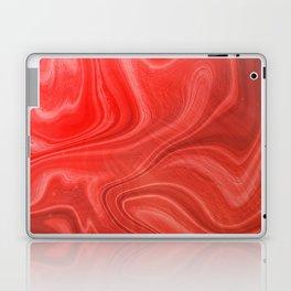 Red Swirl Marble Laptop & iPad Skin