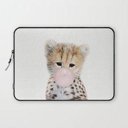 Bubble Gum Cheetah Cub Laptop Sleeve