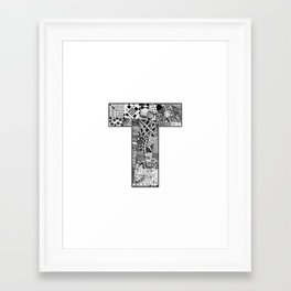 Cutout Letter T Framed Art Print