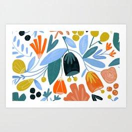 funny flower Art Print