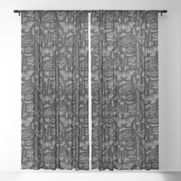 Witchcraft II [Black] Sheer Curtain