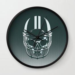 Final Touchdown - FADED CERULEAN Wall Clock