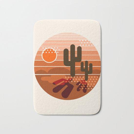 Mightyfine - 70s retro throwback desert southwest socal cali 1970's vibes art Bath Mat
