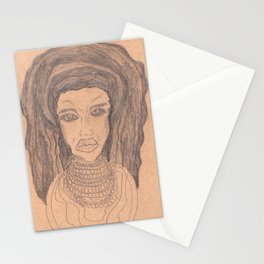 the African girl Stationery Cards