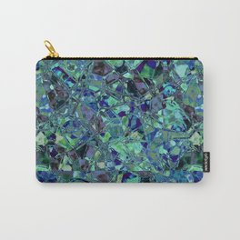 Blue And Green Stained Glas Carry-All Pouch