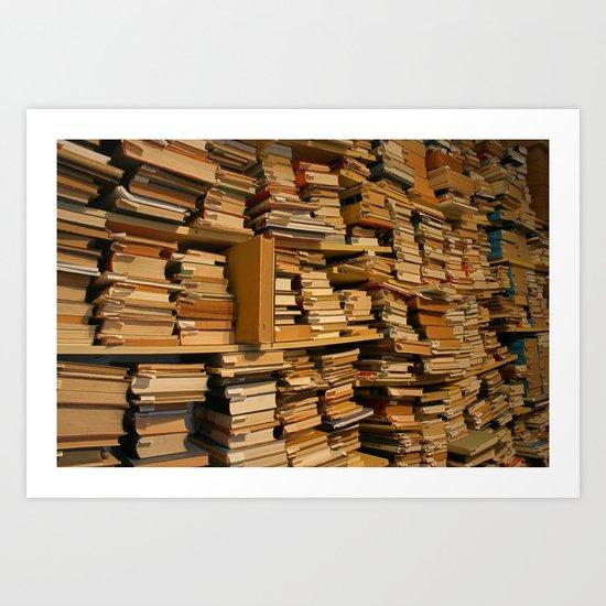 Books, books, books | Buecher, Buecher, Buecher Art Print