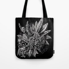 Aztec Great Lizard Warrior 1 (Triceratops) Tote Bag