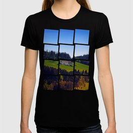 A farm, blue sky and some panorama | landscape photography T-shirt