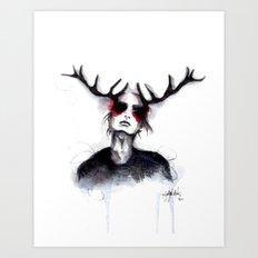 Antlers // Fashion Illustration Art Print