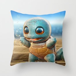 Realistic Squirtle Throw Pillow