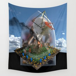 Odd Gods Before Our Eyes Wall Tapestry