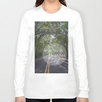 not all who wander Long Sleeve T-shirts featuring Not all those who wander... by AnchorMySoul