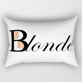 Beautiful blonde women Rectangular Pillow
