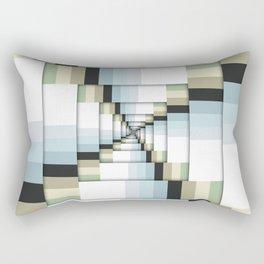 Geometric Earth Tones Rectangular Pillow