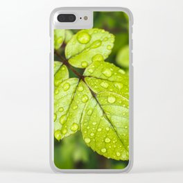 Plant Patterns - Green Scene Clear iPhone Case