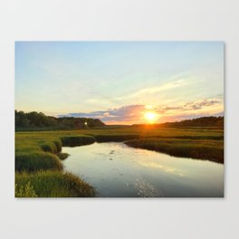 Sunset on Jones Road Canvas Print