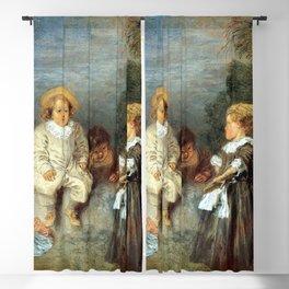 """Antoine Watteau """"Heureux age! Age d'or (Happy Age! Golden Age)"""" Blackout Curtain"""